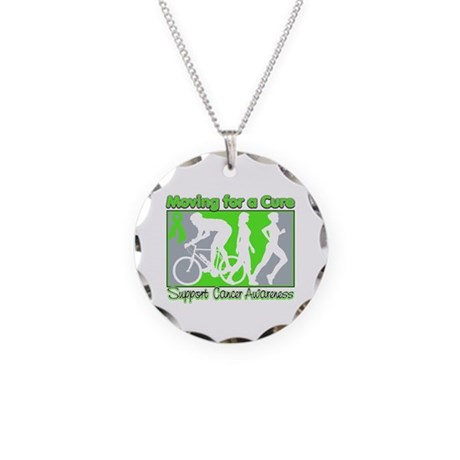 Moving For a Cure Lymphoma Necklace Circle Charm