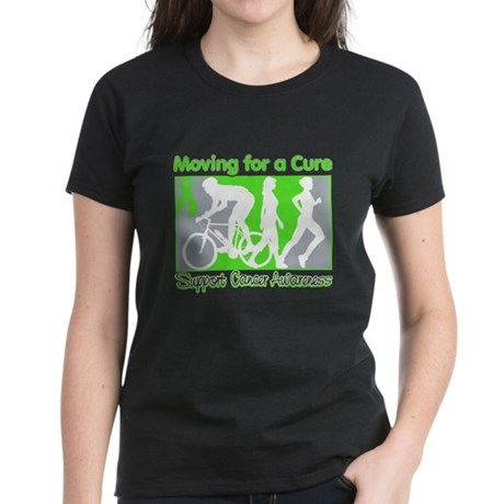 Moving For a Cure Lymphoma Women's Dark T-Shirt