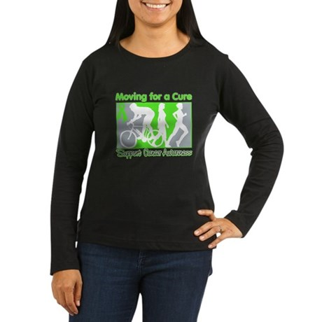 Moving For a Cure Lymphoma Women's Long Sleeve Dar