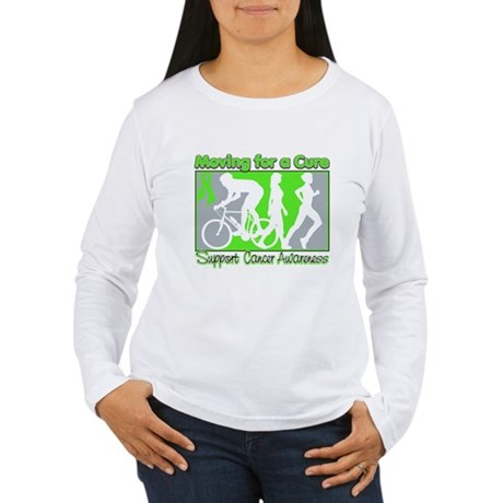 Moving For a Cure Lymphoma Women's Long Sleeve T-S