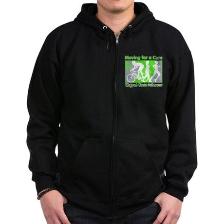 Moving For a Cure Lymphoma Zip Hoodie (dark)