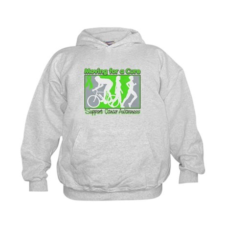 Moving For a Cure Lymphoma Kids Hoodie