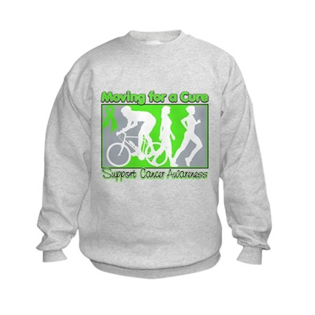 Moving For a Cure Lymphoma Kids Sweatshirt