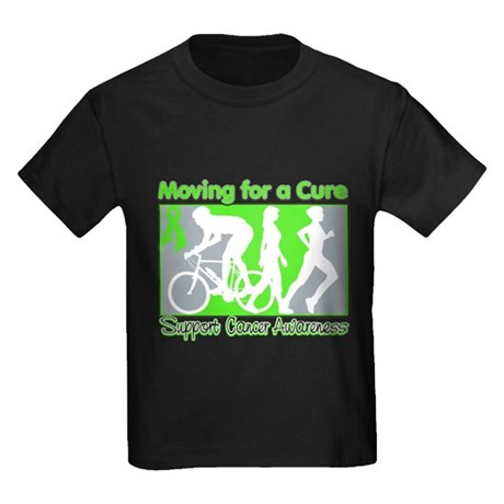 Moving For a Cure Lymphoma Kids Dark T-Shirt