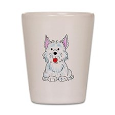 West Highland Terrier Shot Glass
