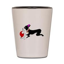 Cute Terrier cartoon Shot Glass
