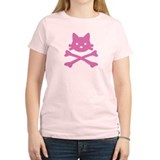 Pink Kitty Crossbones T-Shirt