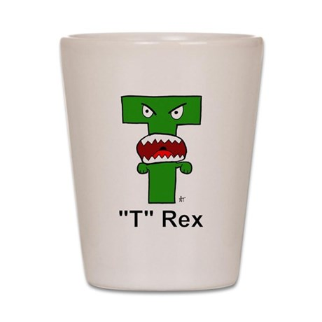 Letter T Rex Shot Glass