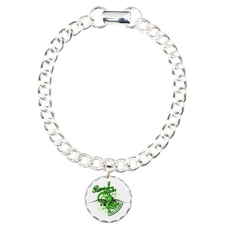 Remission Rocks Lymphoma Charm Bracelet, One Charm