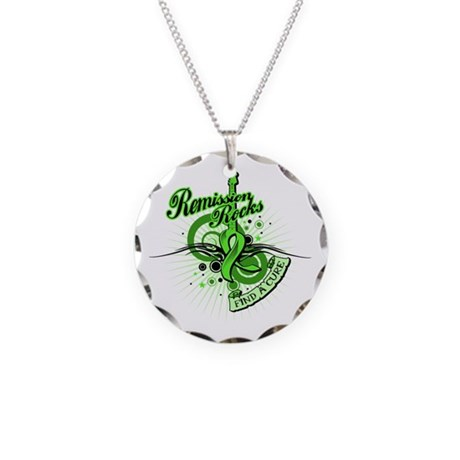 Remission Rocks Lymphoma Necklace Circle Charm