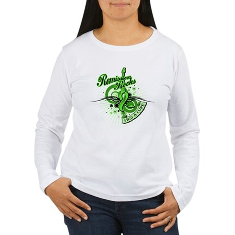 Remission Rocks Lymphoma Women's Long Sleeve T-Shi