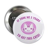 "Cute 5th Birthday (Pink) 2.25"" Button"