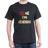 Kiss Me I'm Armenian Black T-Shirt