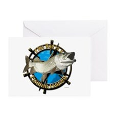 Dad the fishing legend Greeting Cards (Pk of 20)