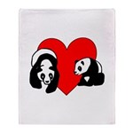 Panda Bear Love Throw Blanket