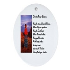 Cherokee Prayer Ornament (Oval)