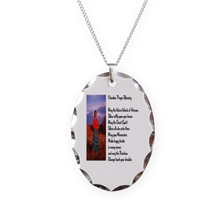 Cherokee Prayer Necklace Oval Charm