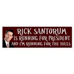 Rick Santorum Running bumper sticker