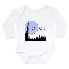 New York Long Sleeve Infant Bodysuit
