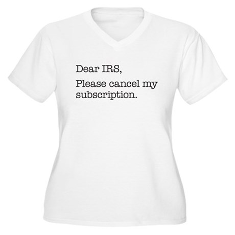 Dear IRS Women's Plus Size V-Neck T-Shirt