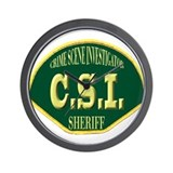 Sheriff CSI Wall Clock