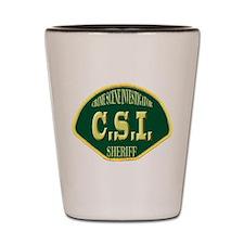 Sheriff CSI Shot Glass