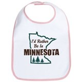 I'd Rather Be In Minnesota Bib