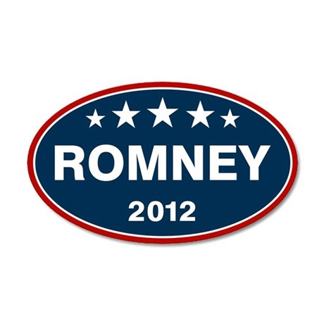 Romney 2012 [blue] 38.5 x 24.5 Oval Wall Peel