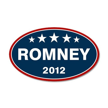 Romney 2012 [blue] 22x14 Oval Wall Peel