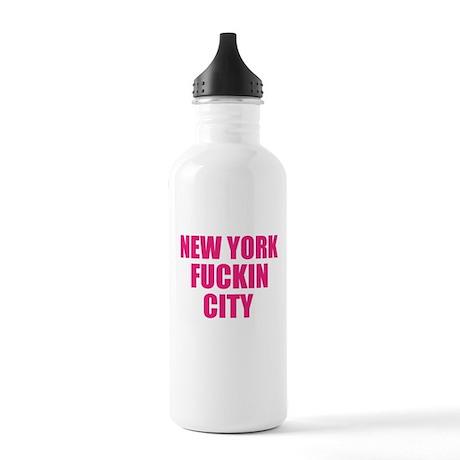New York Fuckin City Stainless Water Bottle 1.0L