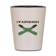 I Love Asparagus Shot Glass