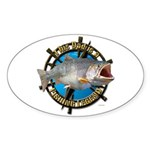 Dad the legend Sticker (Oval 50 pk)