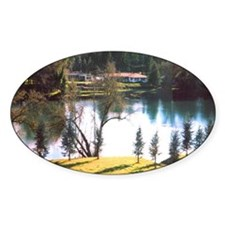"""Dusk on the Willamette"" Oval Decal"