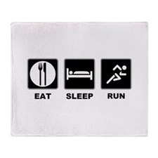 Eat sleep run Throw Blanket