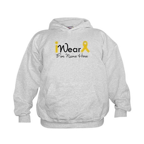 Personalize Childhood Cancer Kids Hoodie