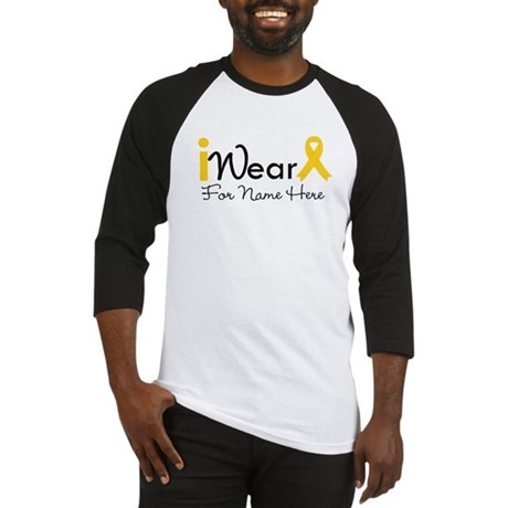 Personalize Childhood Cancer Baseball Jersey