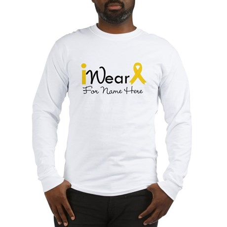 Personalize Childhood Cancer Long Sleeve T-Shirt