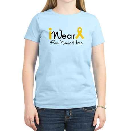 Personalize Childhood Cancer Women's Light T-Shirt
