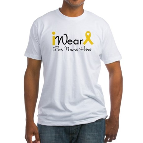 Personalize Childhood Cancer Fitted T-Shirt