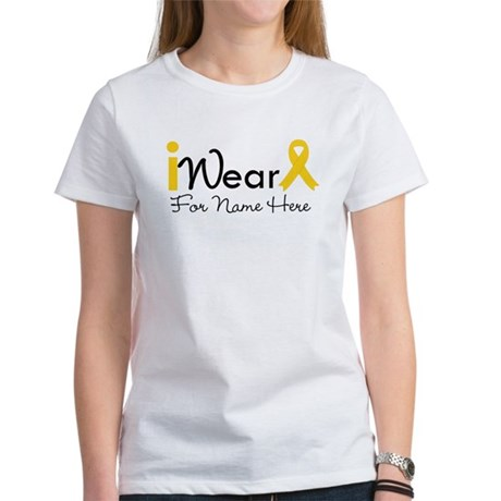 Personalize Childhood Cancer Women's T-Shirt