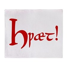 Hwaet! (Red) Throw Blanket
