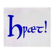 Hwaet! (Blue) Throw Blanket