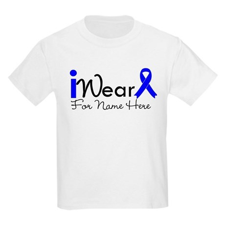 Personalize Colon Cancer Kids Light T-Shirt