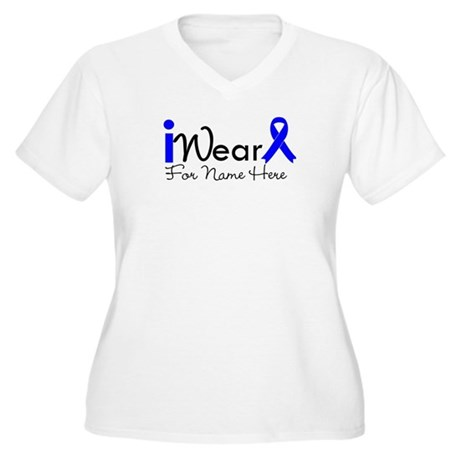 Personalize Colon Cancer Women's Plus Size V-Neck