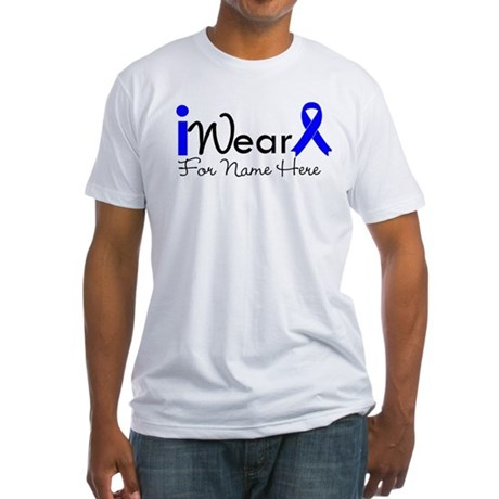 Personalize Colon Cancer Fitted T-Shirt