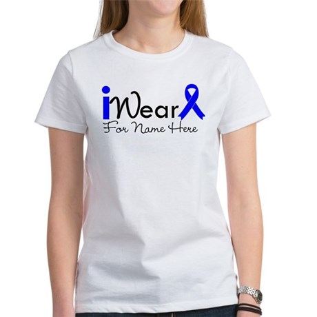 Personalize Colon Cancer Women's T-Shirt