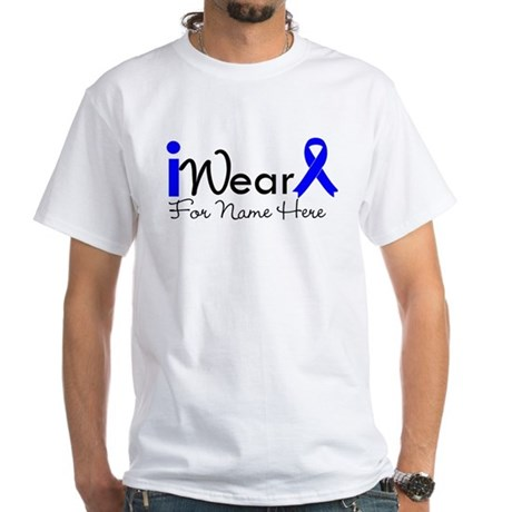Personalize Colon Cancer White T-Shirt
