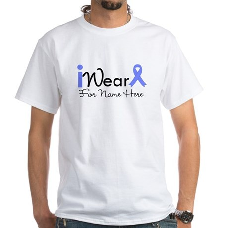 Personalize Esophageal Cancer White T-Shirt