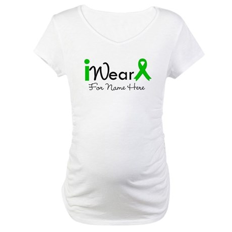 Personalize Bile Duct Cancer Maternity T-Shirt