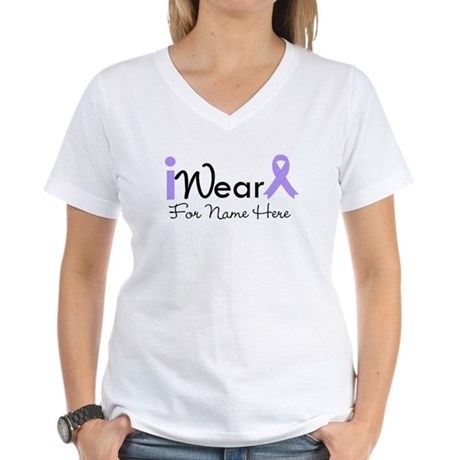 Personalize General Cancer Women's V-Neck T-Shirt